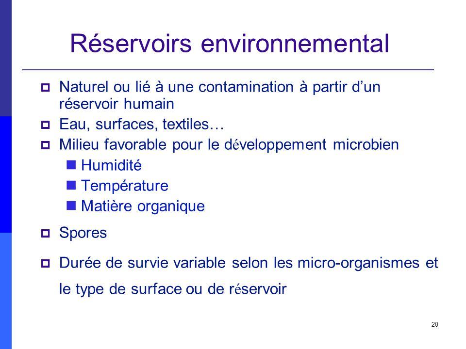 Réservoirs environnemental