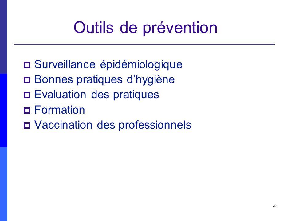 Outils de prévention Surveillance épidémiologique
