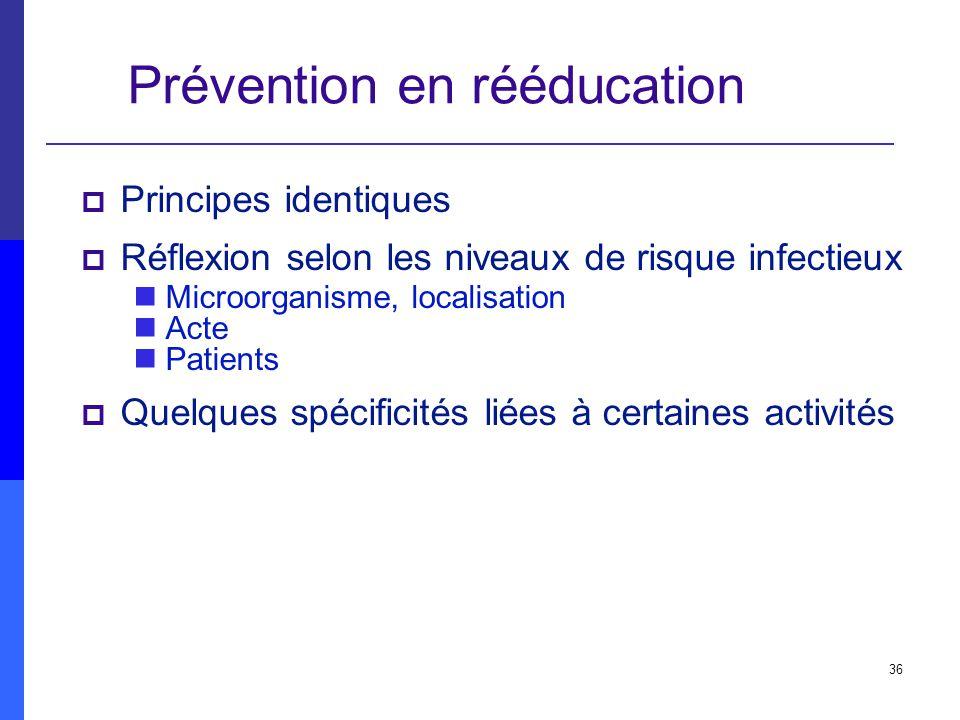 Prévention en rééducation