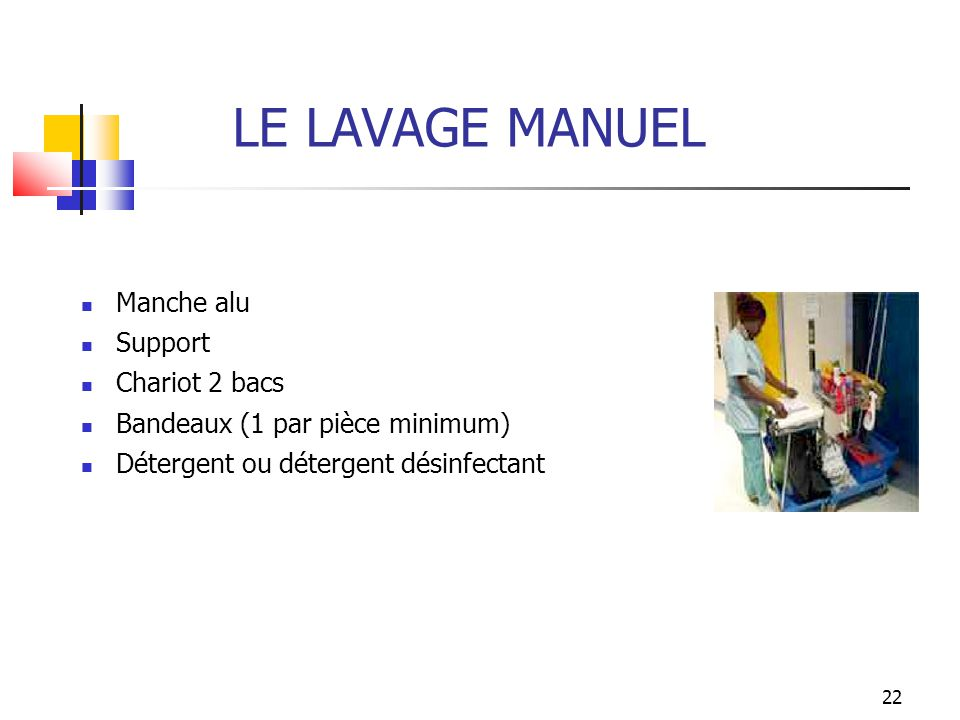 LE LAVAGE MANUEL Manche alu Support Chariot 2 bacs