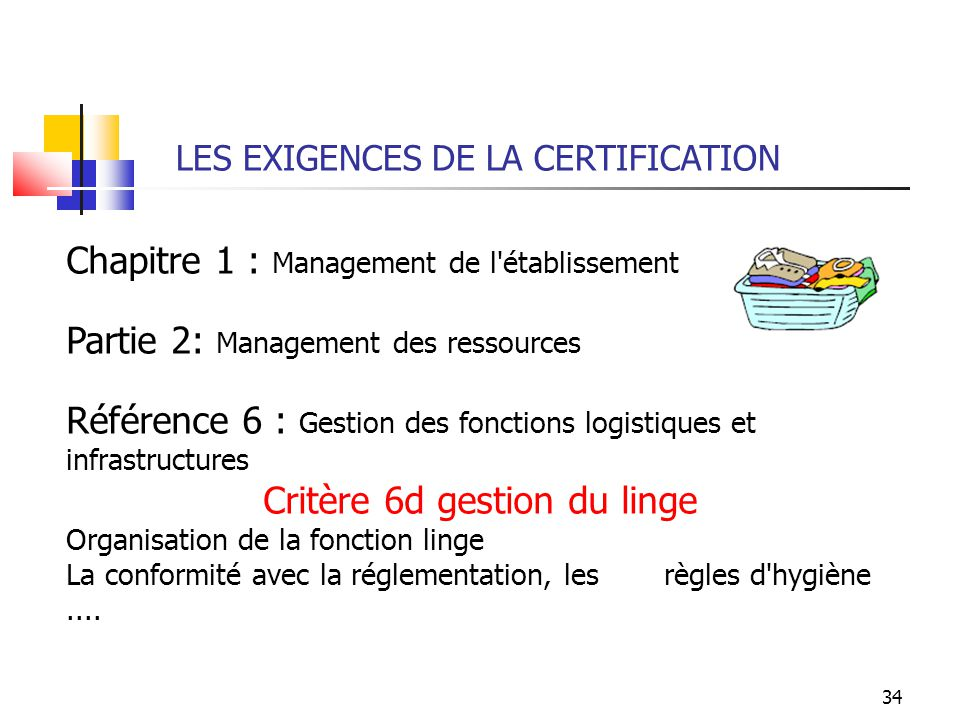 Critère 6d gestion du linge