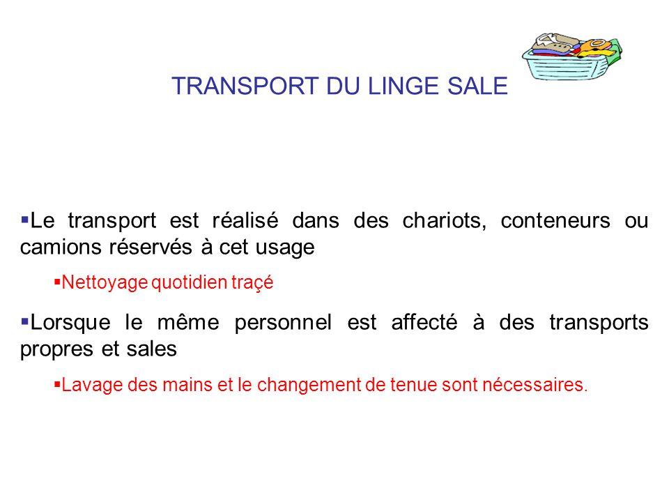 TRANSPORT DU LINGE SALE