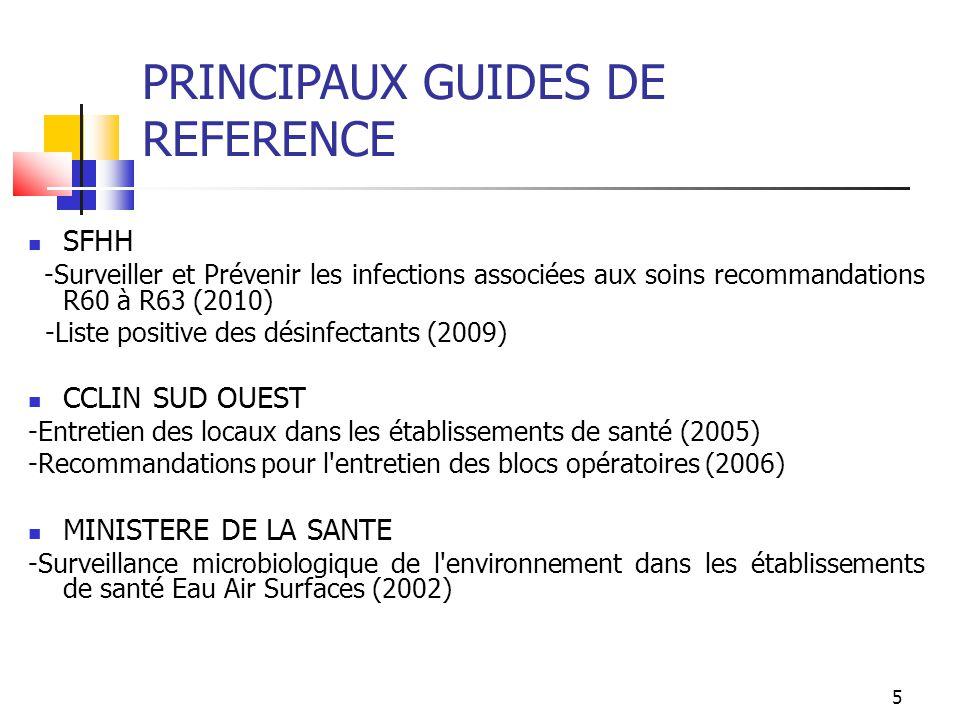 PRINCIPAUX GUIDES DE REFERENCE