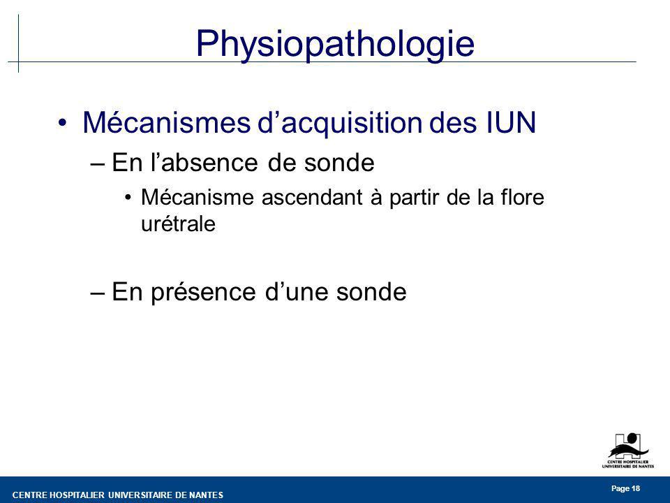 Physiopathologie Mécanismes d'acquisition des IUN