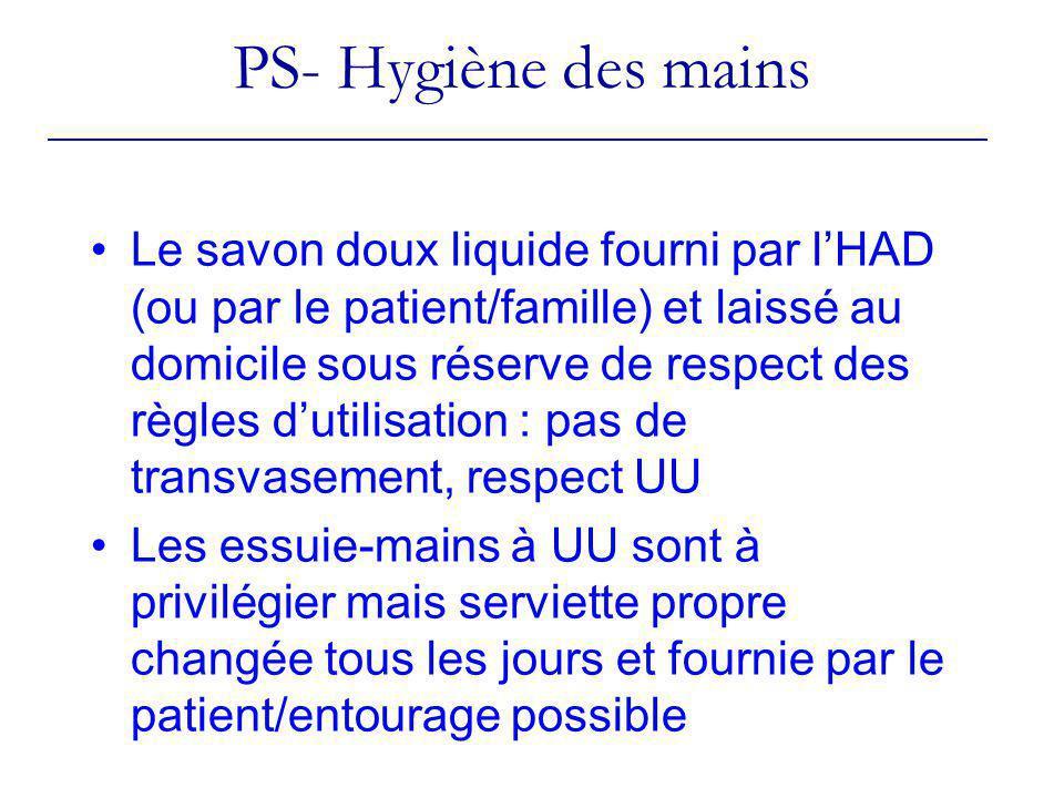 PS- Hygiène des mains