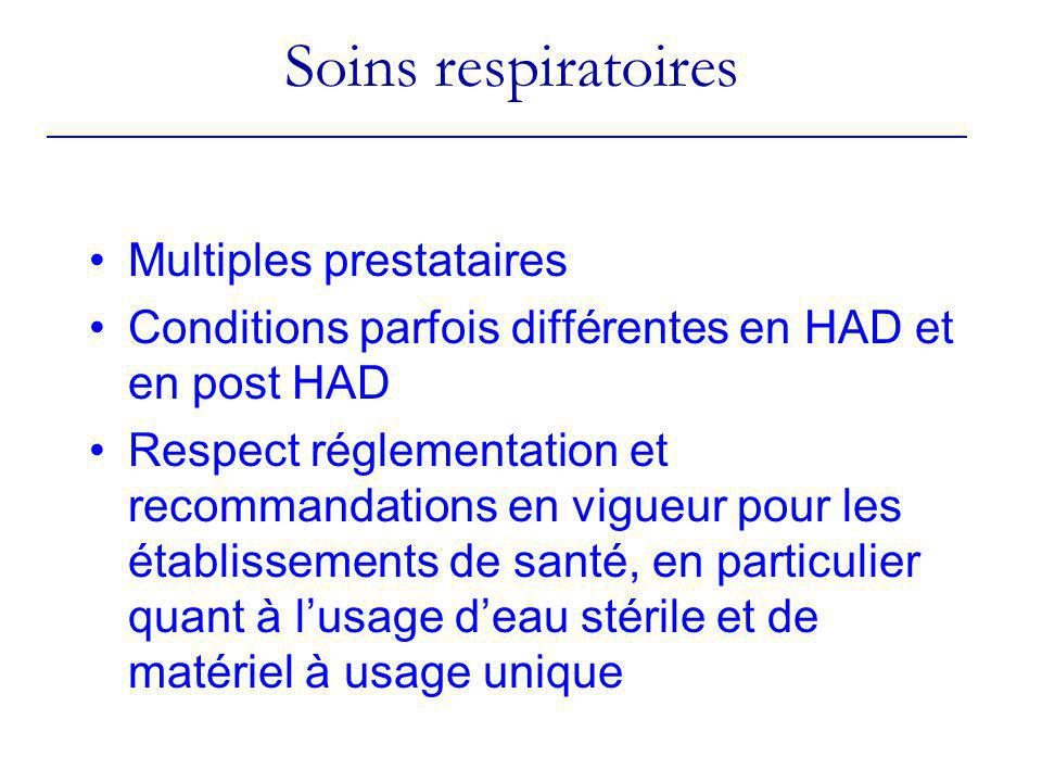 Soins respiratoires Multiples prestataires