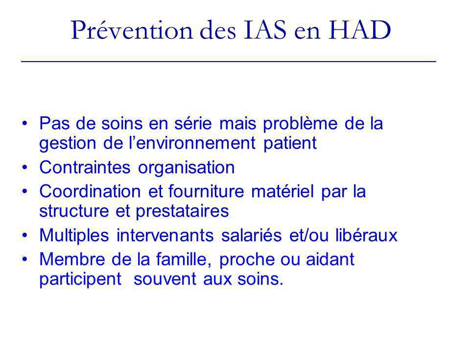 Prévention des IAS en HAD