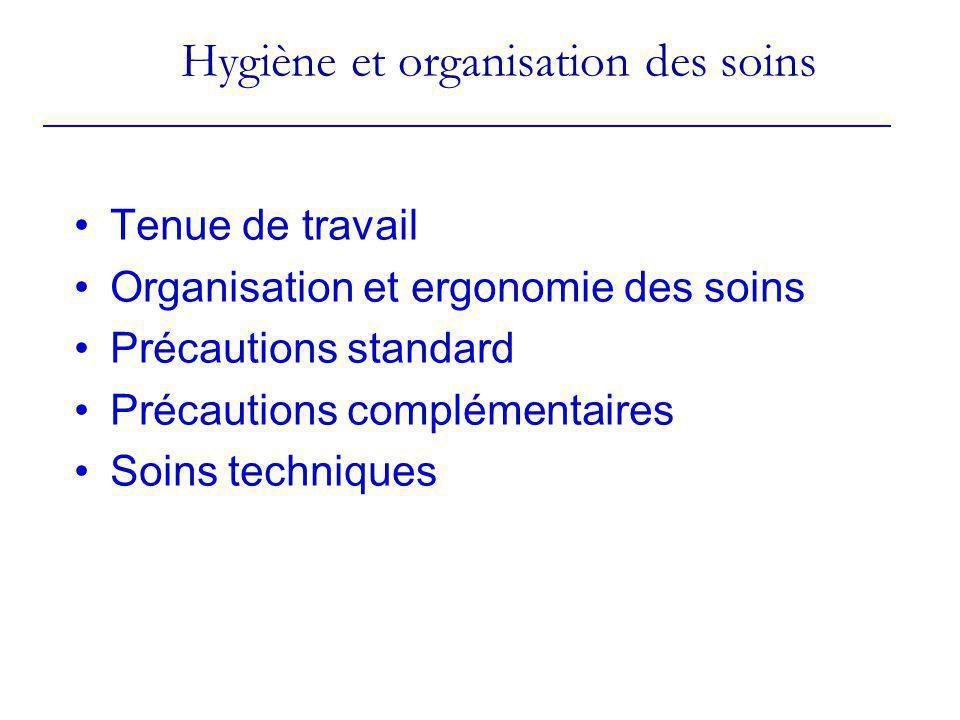 Hygiène et organisation des soins