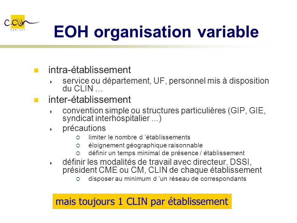 EOH organisation variable