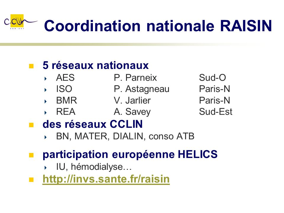 Coordination nationale RAISIN