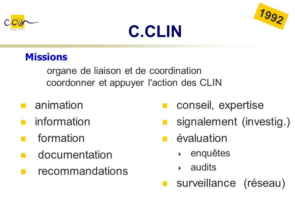 C.CLIN 1992 organe de liaison et de coordination animation information