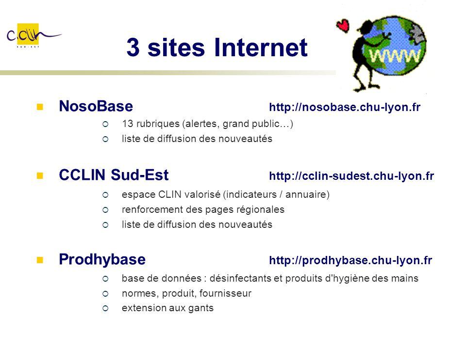 3 sites Internet NosoBase http://nosobase.chu-lyon.fr