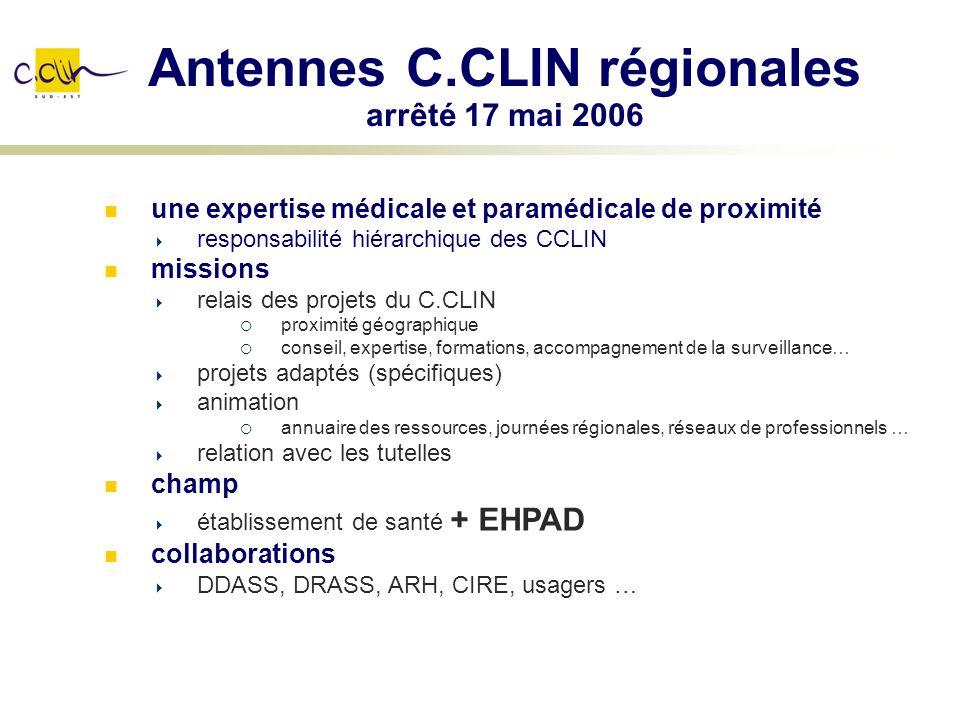 Antennes C.CLIN régionales arrêté 17 mai 2006