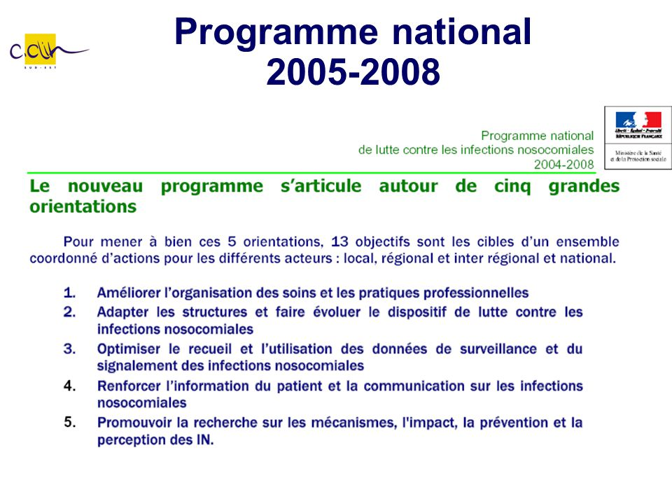 Programme national 2005-2008
