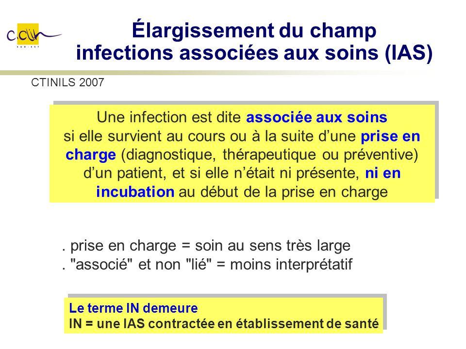 Élargissement du champ infections associées aux soins (IAS)