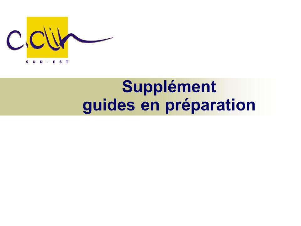 Supplément guides en préparation