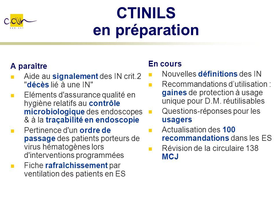 CTINILS en préparation