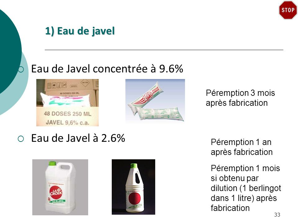 Eau de Javel concentrée à 9.6%