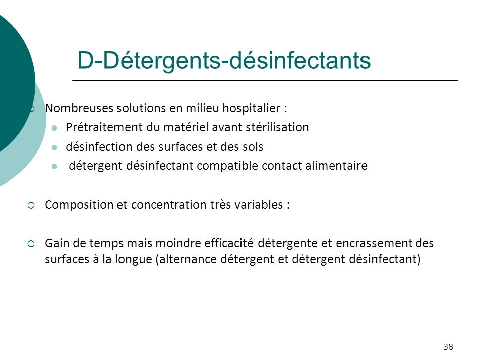 D-Détergents-désinfectants