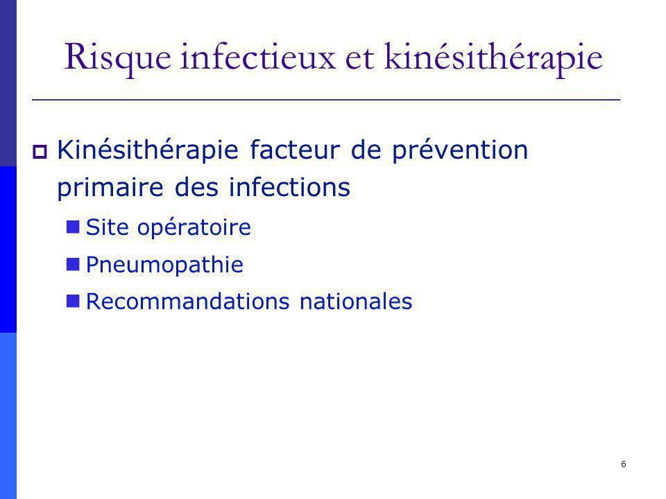 Risque infectieux et kinésithérapie