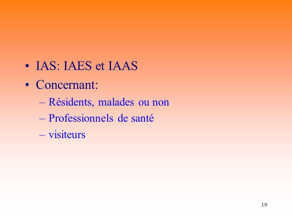 IAS: IAES et IAAS Concernant: Résidents, malades ou non