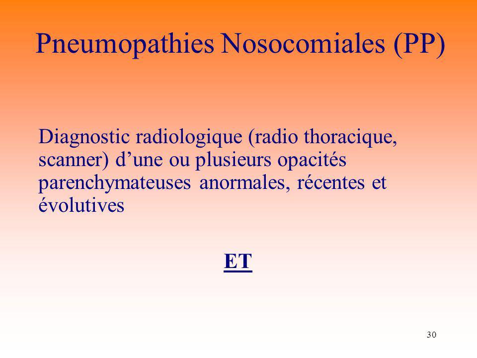 Pneumopathies Nosocomiales (PP)