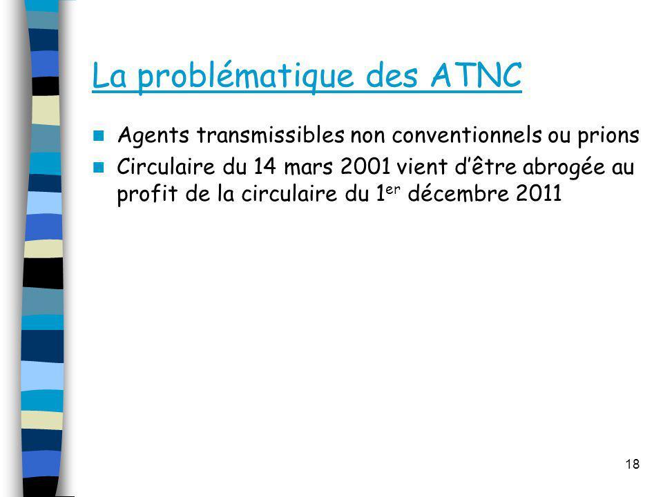 La problématique des ATNC