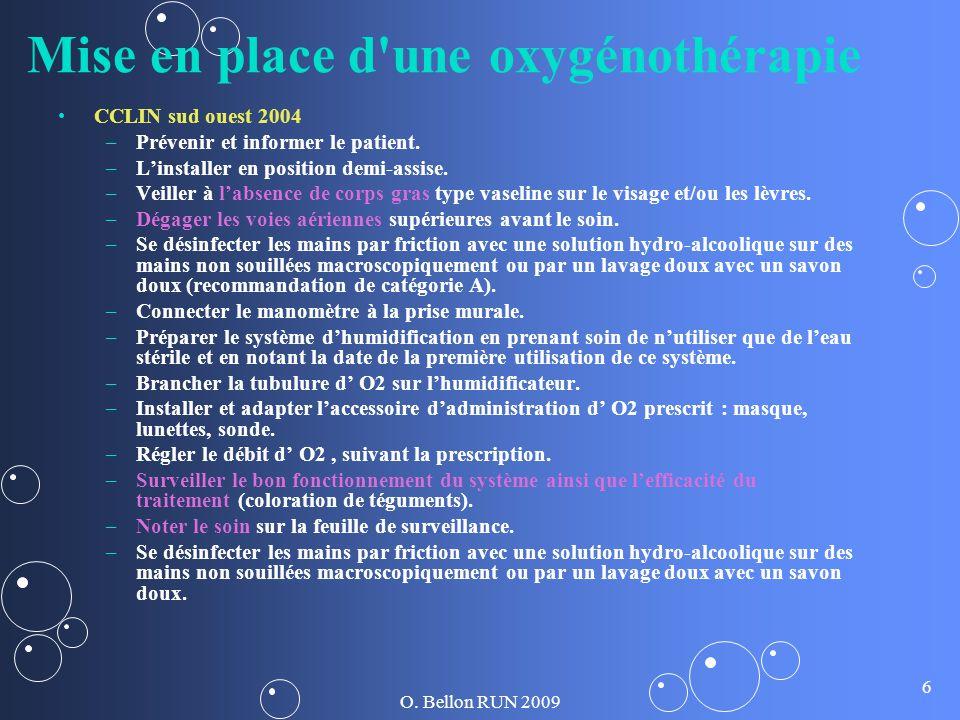 Mise en place d une oxygénothérapie