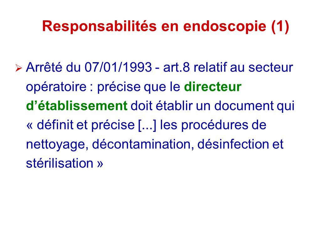 Responsabilités en endoscopie (1)
