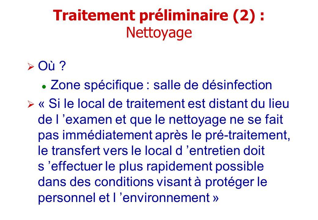 Traitement préliminaire (2) : Nettoyage