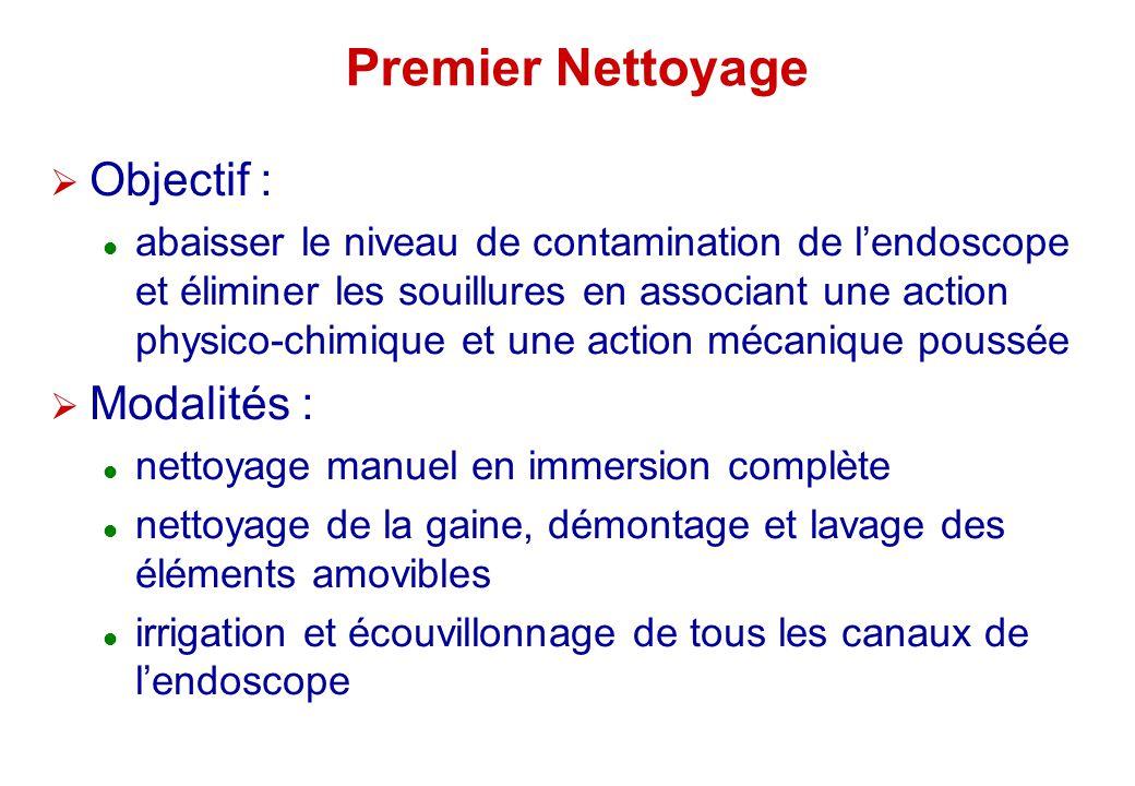 Premier Nettoyage Objectif : Modalités :