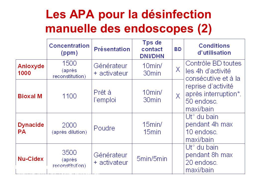 Les APA pour la désinfection manuelle des endoscopes (2)