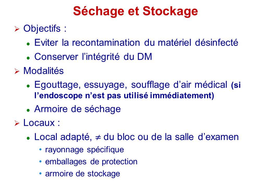 Séchage et Stockage Objectifs :