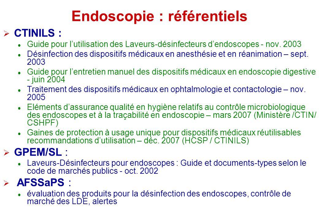 Endoscopie : référentiels