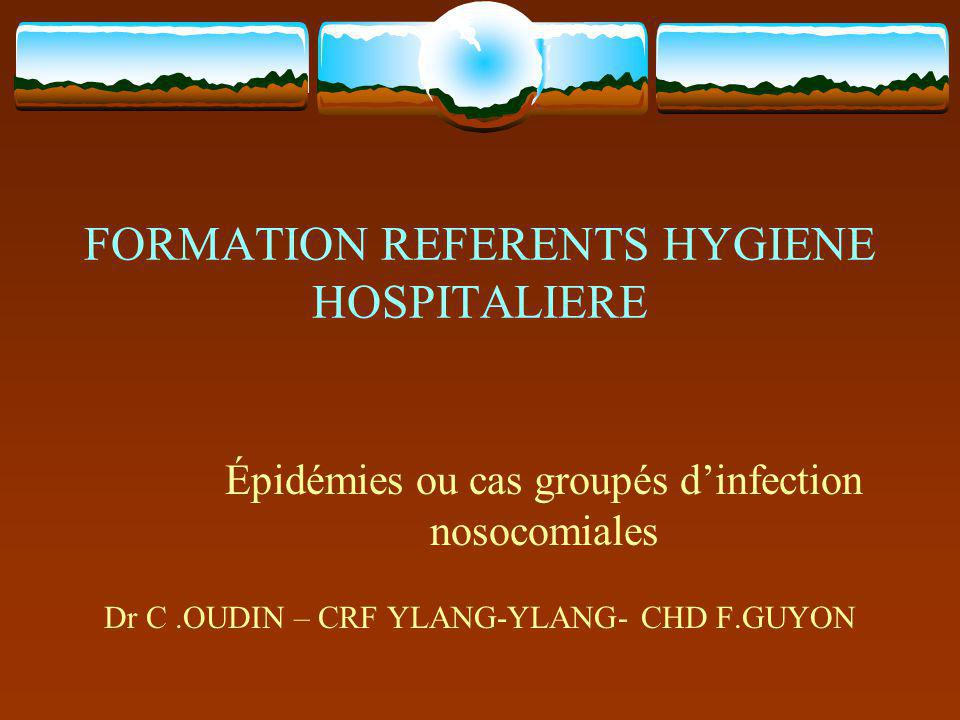 FORMATION REFERENTS HYGIENE HOSPITALIERE