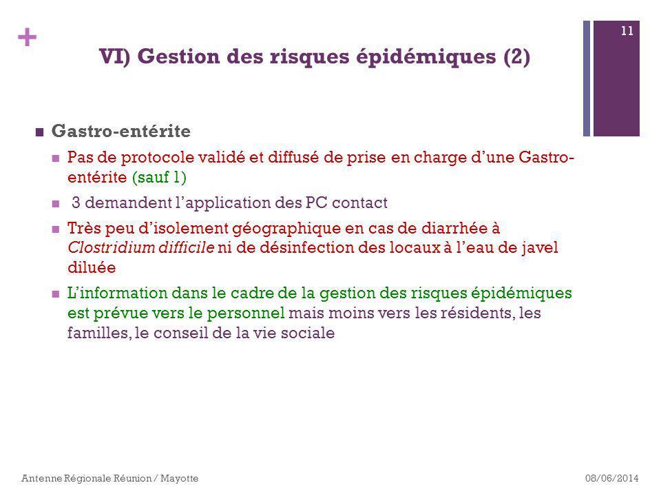 VI) Gestion des risques épidémiques (2)