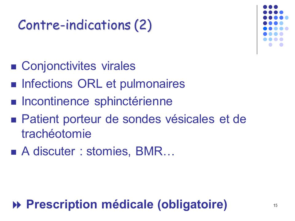 Contre-indications (2)