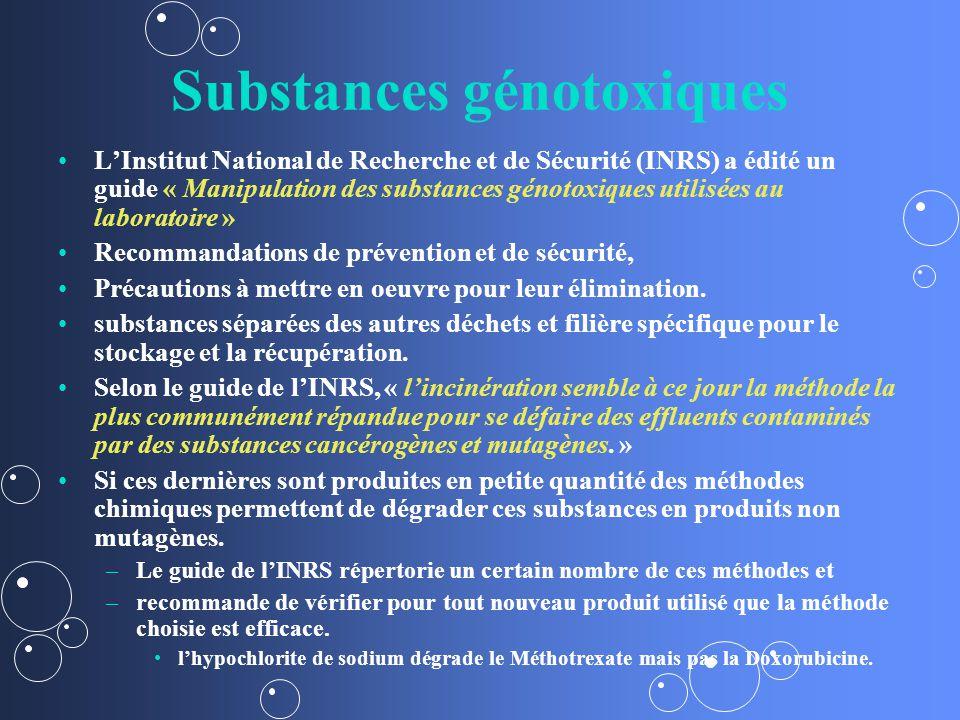 Substances génotoxiques