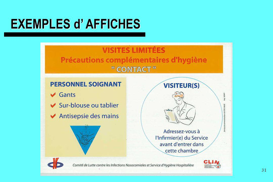 EXEMPLES d' AFFICHES