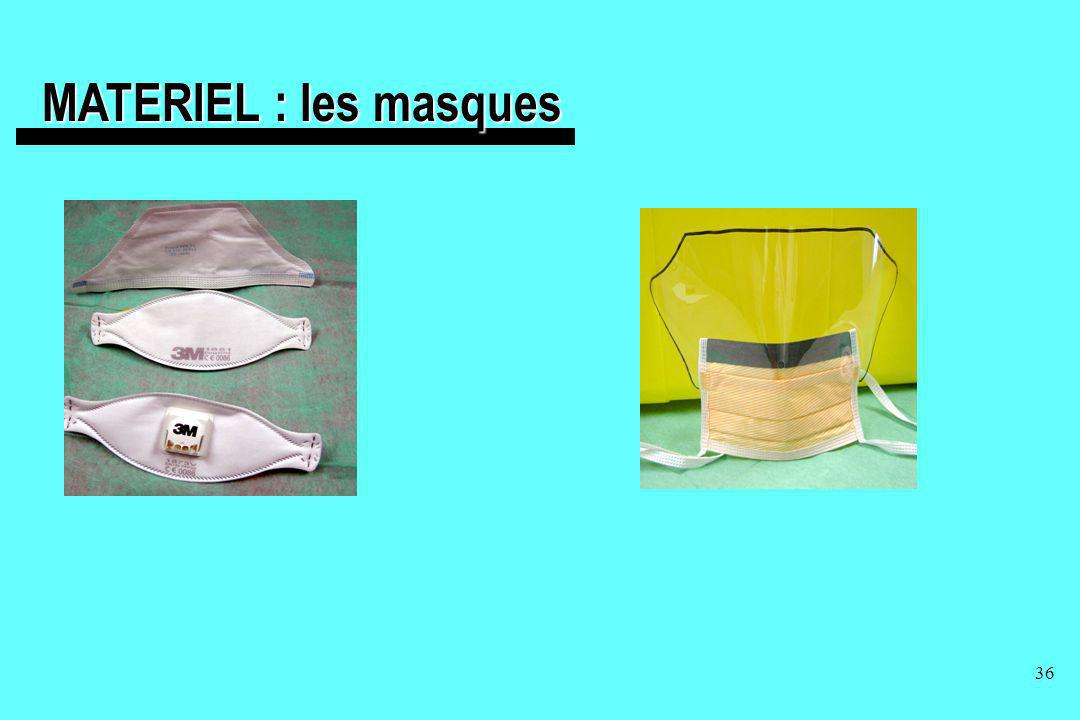 MATERIEL : les masques