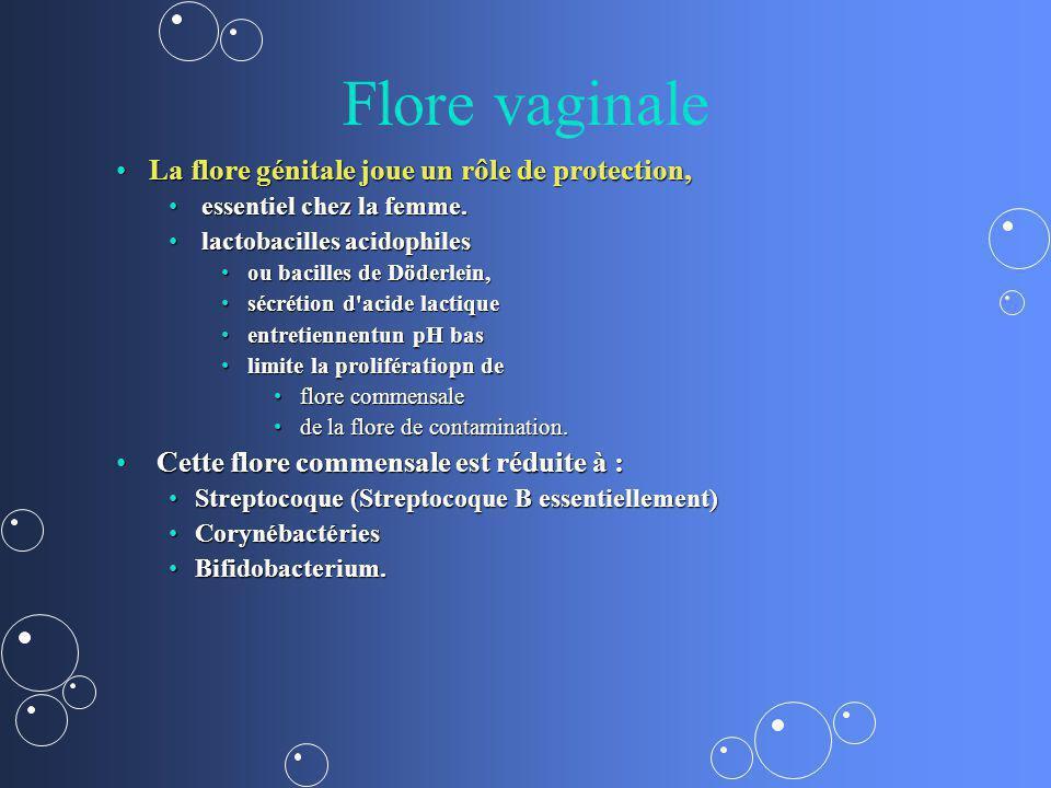 Flore vaginale La flore génitale joue un rôle de protection,