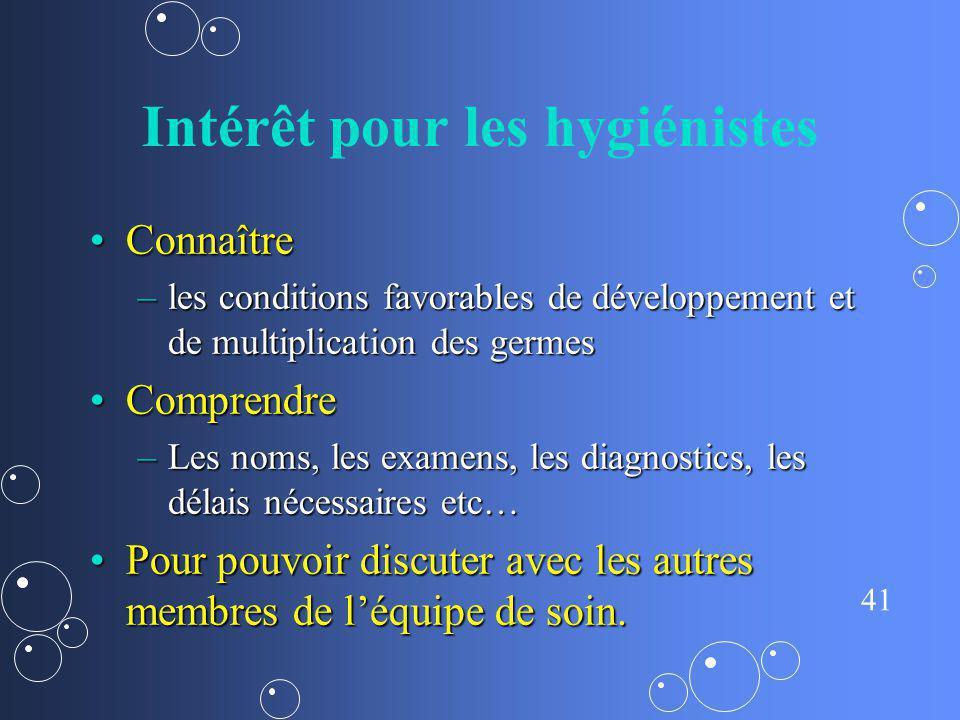 Intérêt pour les hygiénistes