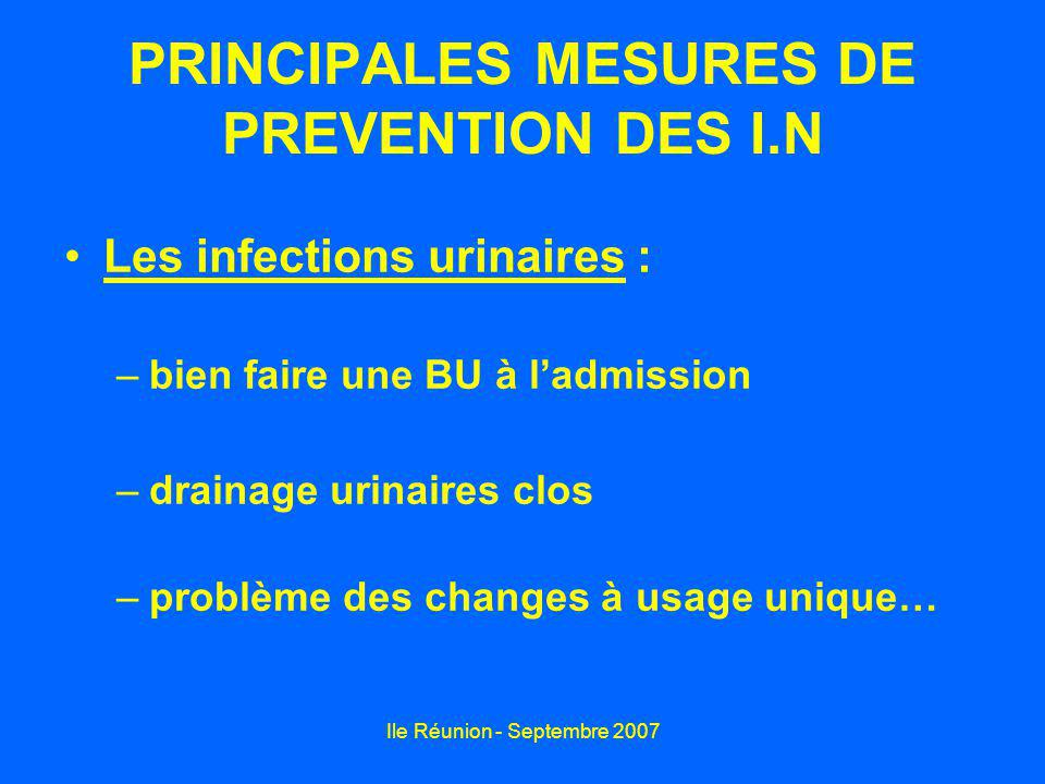 PRINCIPALES MESURES DE PREVENTION DES I.N