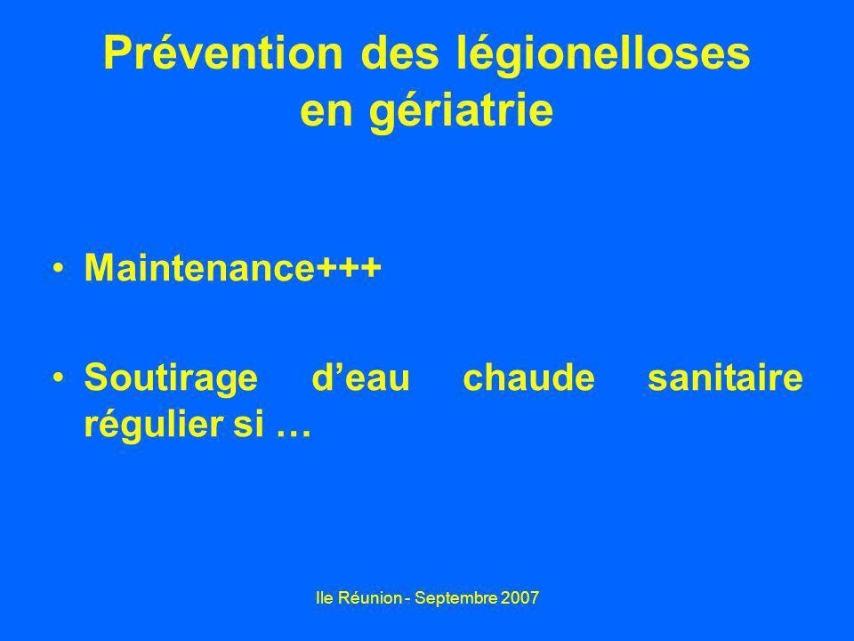Prévention des légionelloses en gériatrie