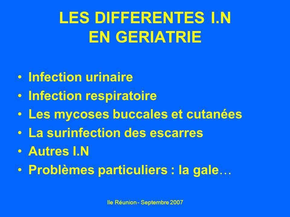 LES DIFFERENTES I.N EN GERIATRIE