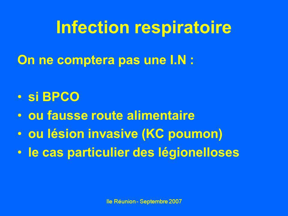 Infection respiratoire