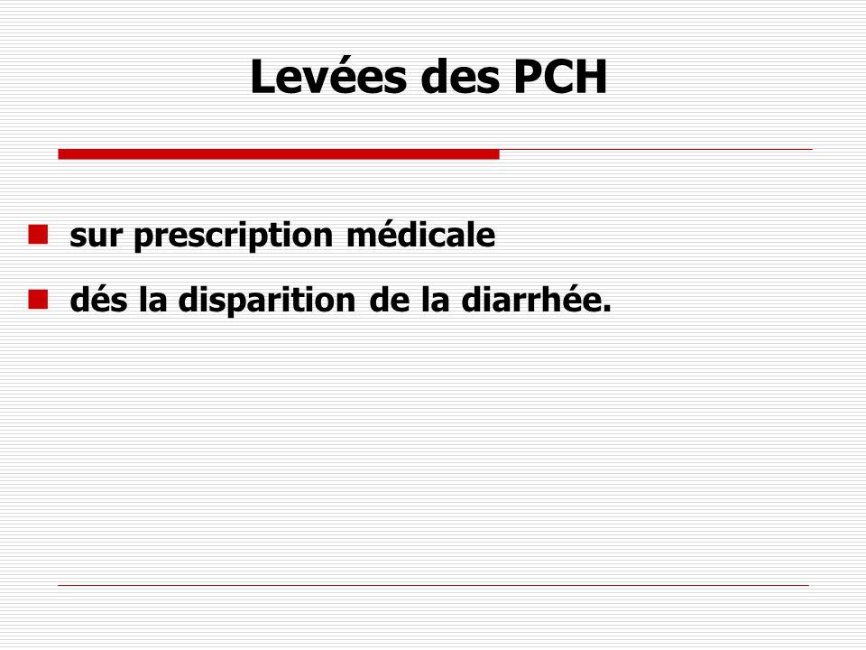 Levées des PCH sur prescription médicale