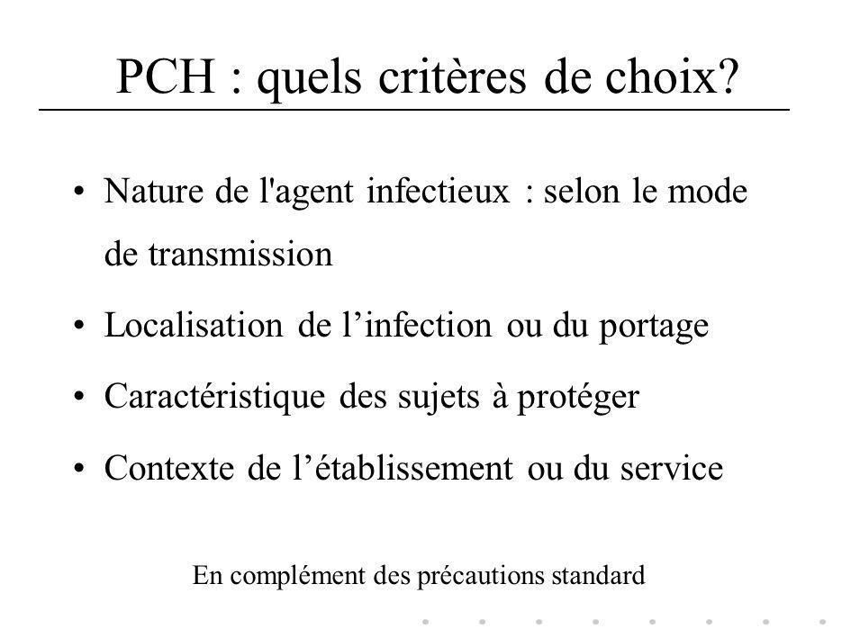 PCH : quels critères de choix