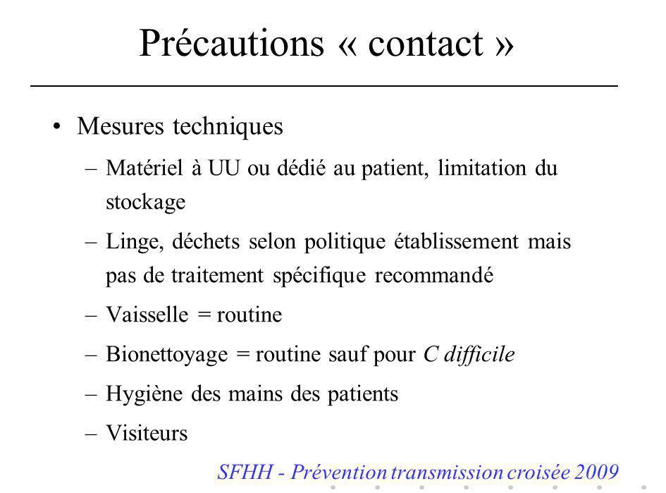 Précautions « contact »