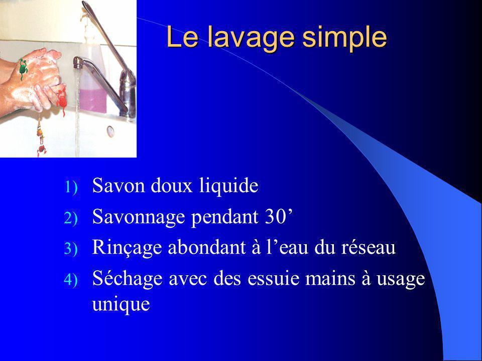 Le lavage simple Savon doux liquide Savonnage pendant 30'
